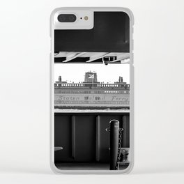 Boat through the Boat - Staten Island Ferry Clear iPhone Case