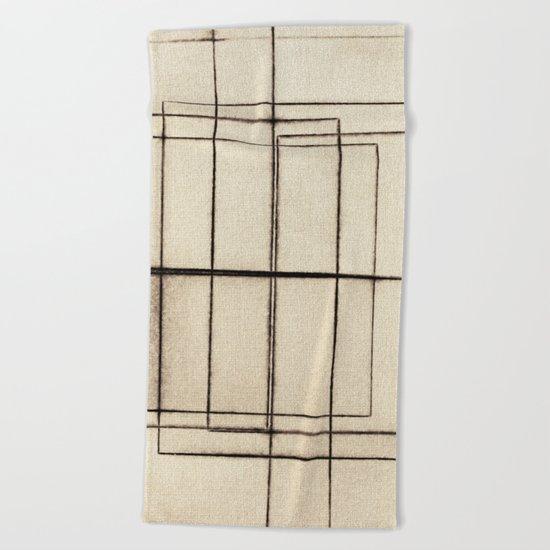 Toner Lines on Paper Beach Towel