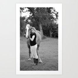 Horse 2wo Art Print
