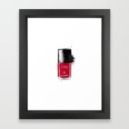 Red fashion Framed Art Print