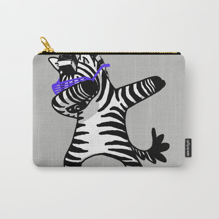 Dabbing Zebra Shirt Dab Hip Hop Funny Carry-All Pouch