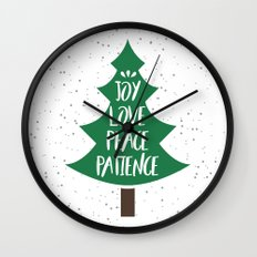 Tree of Christmas Present Wall Clock