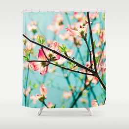 Aqua Spring Shower Curtain