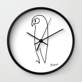Pablo Picasso The Owl Artwork T Shirt, Reproduction Sketch, tshirt, tee, jersey, poster, artwork Wall Clock