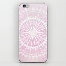 Rose White Glittering Mandala iPhone & iPod Skin