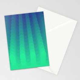 Multilayer round lines art Stationery Cards