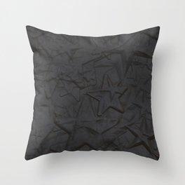 Metal Stars Throw Pillow