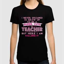 Teacher T-Shirt Gift Idea Unique Design Job T-Shirt Funny Tutor T-Shirt Maths