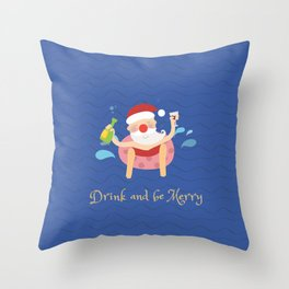 Day 04/25 Advent - Drink & be merry Throw Pillow