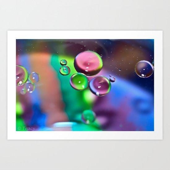 Oil & Water Art Print