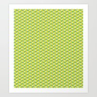 green pattern Art Prints featuring pattern green by colli13designs