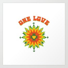 One Love fractal Art Print
