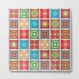 Colorful Tiles Pattern Metal Print