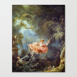 Jean-Honoré Fragonard - The Swing Canvas Print
