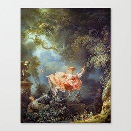Jean-Honoré Fragonard - The Swing Canvas Print