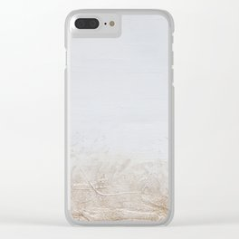 Gold Glitter on White Clear iPhone Case