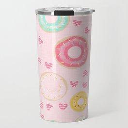 hearts and donuts pink Travel Mug
