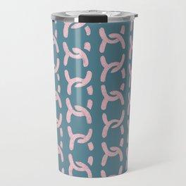 decorative chain ornament pattern pink blue Travel Mug