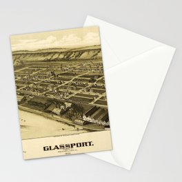 Aerial View of Glassport, Pennsylvania (1902) Stationery Cards