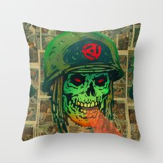 45 Death Soldier Throw Pillow