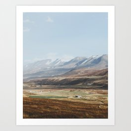 Icelandic Farm Country Art Print
