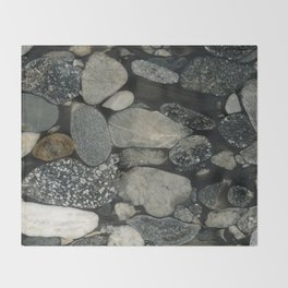 Marble Pebbles Throw Blanket