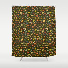 Falling Fall Leaves Shower Curtain