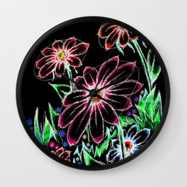 """""""Wildflowers"""" Inverted Wall Clock"""
