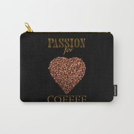 The poster with coffee beans on shape of heart Carry-All Pouch