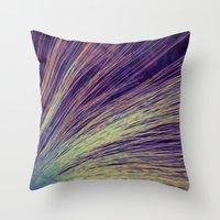 fireworks Throw Pillows featuring Fireworks by Françoise Reina