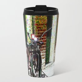 Two Bicycles In the Alley Travel Mug