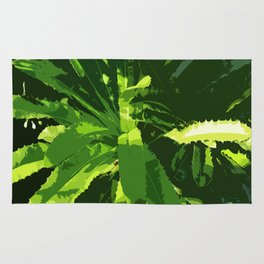 Green Leafes Abstract Rug