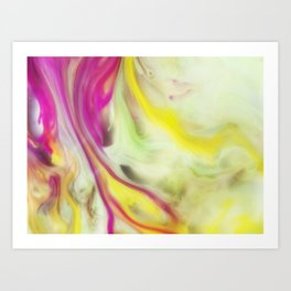 Magnolia Watercolor Abstraction Painting Art Print