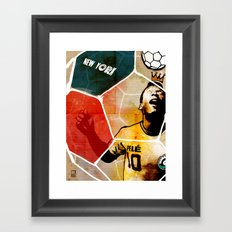 The New York Cosmos' Pelé (King of Soccer) Framed Art Print