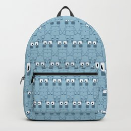 Super cute cartoon blue pig - bring home the bacon with everything for the pig enthusiasts! Backpack