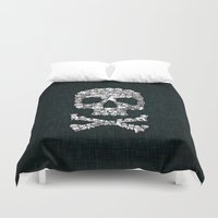 punisher Duvet Covers featuring Skull Dogs Halloween by aleha