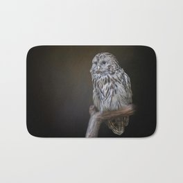 Lovely cute owl Bath Mat