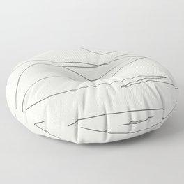 Abstract Landcape 15A Floor Pillow