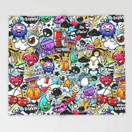graffiti fun Throw Blanket