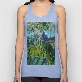 Wild Jungle || #illustration #painting Unisex Tank Top