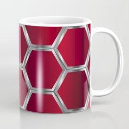 Metallic red and silver geometric pattern Coffee Mug