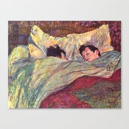 """Henri de Toulouse-Lautrec """"The Bed"""" Canvas Print"""