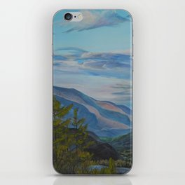 Evening in the mountains iPhone Skin