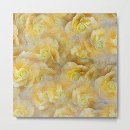 Yellow Blooms Metal Print
