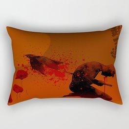 Seppuku ( Hara Kiri) The liberation of the spirit of the samurai Rectangular Pillow