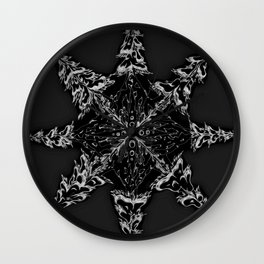 Mountain Dreamin' Mandala: Solar Edition Wall Clock