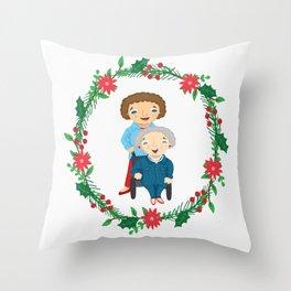 Custom Family Portraits Throw Pillow