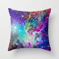 nebula Throw Pillows featuring Fox Nebula by Starstuff