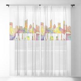 Austin Texas Skyline MCLR 2 Sheer Curtain