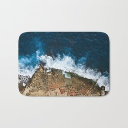 An aerial shot of the Salt Pans in Marsaskala Malta Bath Mat